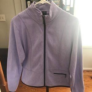 Lavender zip up jacket